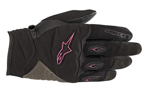 Stella Shore Women's Motorcycle Glove (Large, Black Fuchsia)