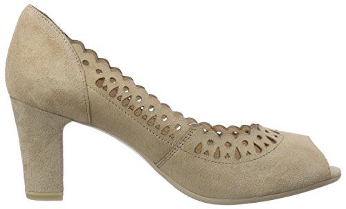 Caprice29301 - Zapatos de Tacón Mujer Marrón - Braun (TAUPE SUEDE 343)