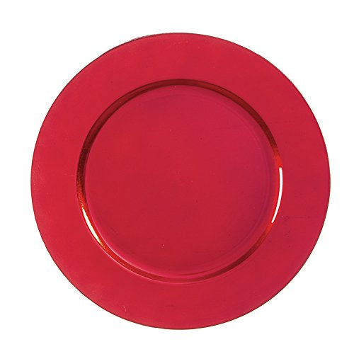 - Darice 30035016 Decorative Red, 13 Inches, 6-Pack Charger Plate, 13