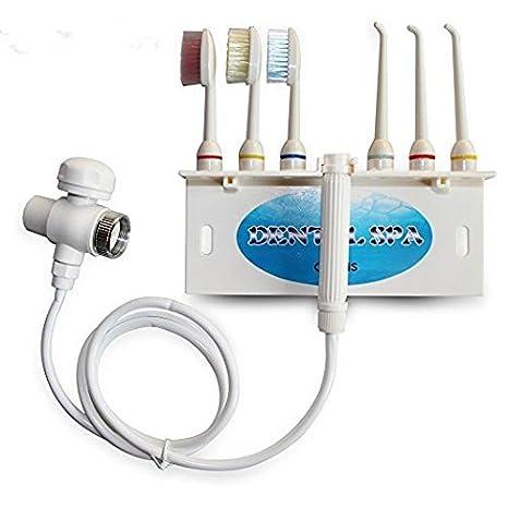 sancc agua Flosser - Irrigador bucal dental care Device Jet dientes Spa cepillo de dientes conjuntos Pick limpiador: Amazon.es: Hogar