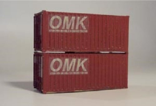 Osborn Models N Gauge * 20' Shipping Containers * Set of 2 * EZ Assembly Kit * New #RRA3063