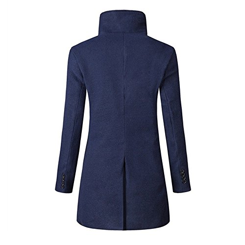 Pardessus D'hiver Mince Manteau Kobay Trench Long Marine Veste Hommes Chaud xEYaYCwqX