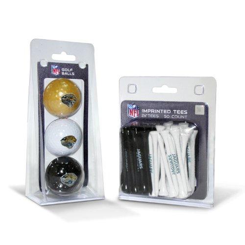 Team Golf NFL Jacksonville Jaguars Logo Imprinted Golf Balls (3 Count) & 2-3/4