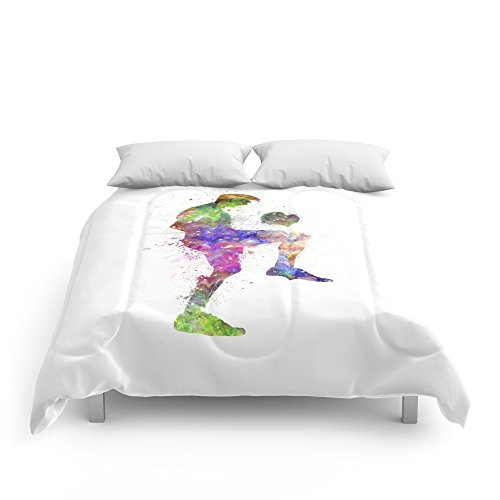 Society6 Man Soccer Football Player Comforters King: 104'' x 88'' by Society6
