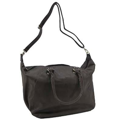 Eternel - Bolso de tela para mujer marrón marrón 40x32x18cm