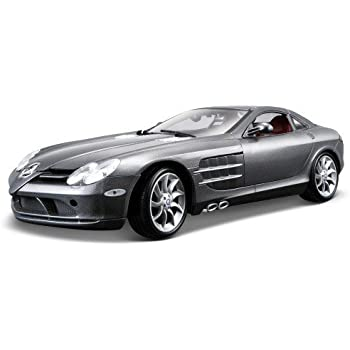 Amazon Com Mercedes Mclaren Slr Blue 1 18 Diecast Model Car Toys