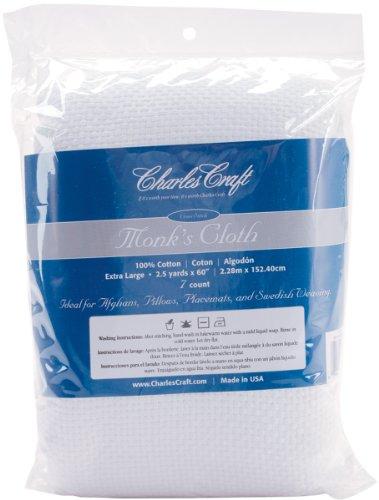 DMC HF4462-6750 Cotton Monk's Aida Cloth, 2.5-Yard, White, 7 Count ()