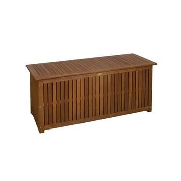 Auflagenbox Mailand Akazie Holz Stabile Garten Truhe Mit Innentasche