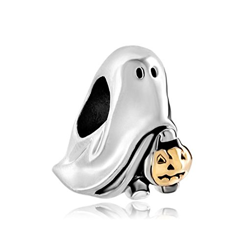 Charmed Craft Style Halloween Charms Ghost Pumpkin Candy Beads Charms