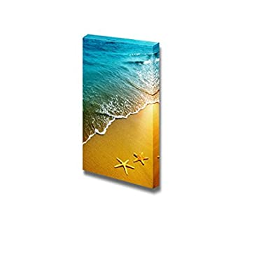 Beautiful Scenery Landscape Starfish on a Beach Sand at Sunset Nature Beauty - Canvas Art Wall Art - 36