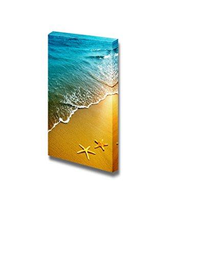 Beautiful Scenery Landscape Starfish on a Beach Sand at Sunset Nature Beauty Wall Decor ation