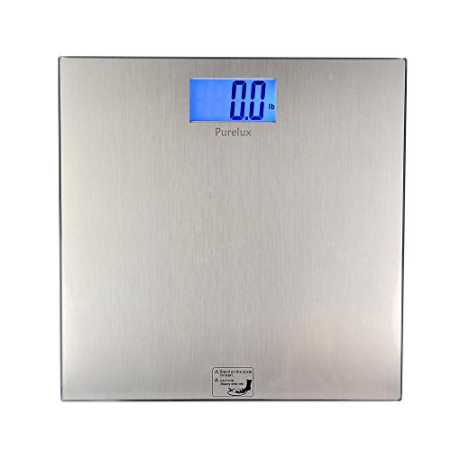Best Weight Scale (Purelux Bathroom Digital Body Weight Scale with Step-on Technology, Precise Measure Stable Reading, 400 Pounds, Stainless Steel Panel)
