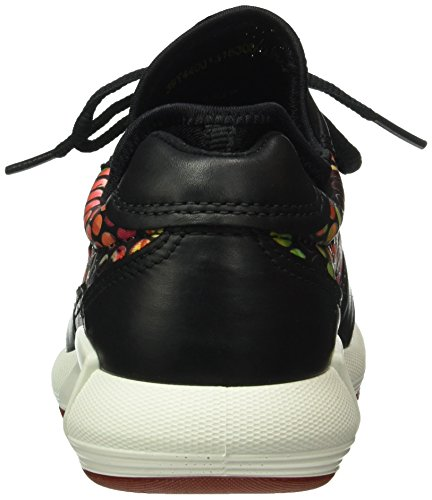 Ecco Damen Cs16 Ladies Sneaker Schwarz (black / Flower Print50155)