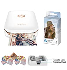 With the portable, lightweight HP Sprocket Photo Printer, print photos from your smartphone or tablet just as easily as you post them. Make time spent with friends more memorable with instantly sharable 2x3-inch snapshots of every fun-filled ...