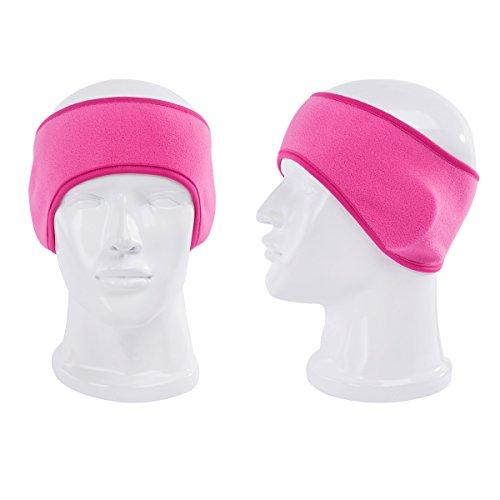 Women Men Winter Fleece Sports Headband With Ear Warmers Ear Muff Stretch Running Bandeaux Hair Band (3packs)