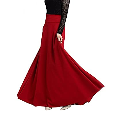 AOMEI Women Maxi Long High Waist Elegant Party Skirts
