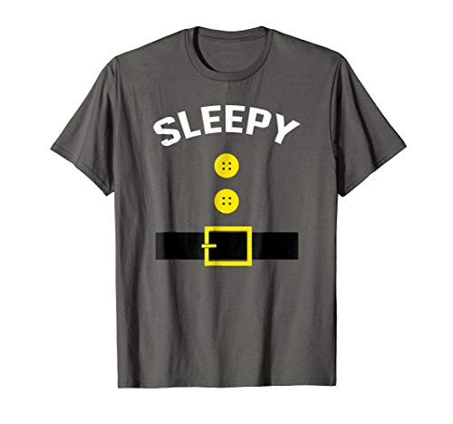 Funny Sleepy Group Thanksgiving Halloween Dwarf T-Shirt -