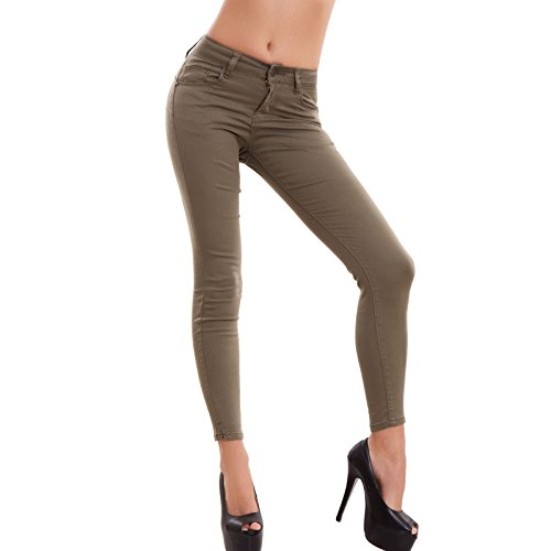 Aderenti Colorati Toocool Donna Pantaloni Nuovi Skinny Slim Jeans Y8387 Verde Elasticizzati 1nYYBqr0P