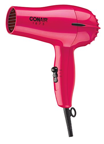 Conair 1875 Watt Mid-Size Hair Dryer; Red (Blow Dryer Oil)