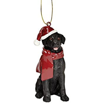 design toscano black labrador retriever holiday dog christmas tree ornament xmas decorations 3 inch polyresin full color - Labrador Outdoor Christmas Decoration