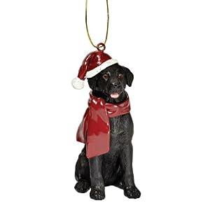 Design Toscano Black Labrador Retriever Holiday Dog Christmas Tree Ornament Xmas Decorations, 3 Inch, Full Color 5