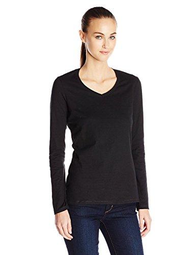 Champion Authentic Women's Jersey Long Sleeve T-Shirt_Black_M