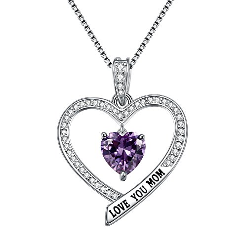 (EleQueen Mother Gift 925 Sterling Silver CZ Engraved