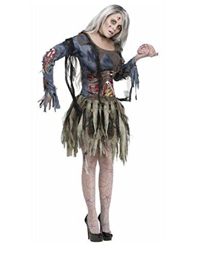 Fun World Women's Zombie Costume, Grey,