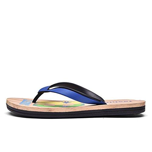 Thong Flip Sunny Flops amp;Baby 9 blue Color Sandals Size Sapphire red Beach Black Durable Classic Slipper 5MUS Men's rxEIqE