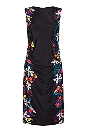 c33bad0e60a Yumi Curves Jungle Floral Bodycon Dress: Amazon.co.uk: Clothing