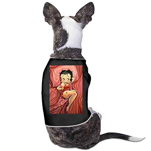 Dog Pajamas, Large Dog Clothes Dog Pajamas Post Surgery Wear,Betty Boop Dog Shirt for Labrador Doberman(Black)-S