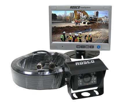 Rearview Backup Camera System Complete with 7-inch Color Monitor, Weather Proof Camera, 65-ft Harness. (12' Truck Audio)