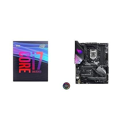Intel Core i7-9700K Desktop Processor 8 Cores up to 4 9 GHz Turbo Unlocked  with Gaming Motherboard LGA1151 ATX DDR4 DP HDMI M 2 USB 3 1 Gen2 802 11AC