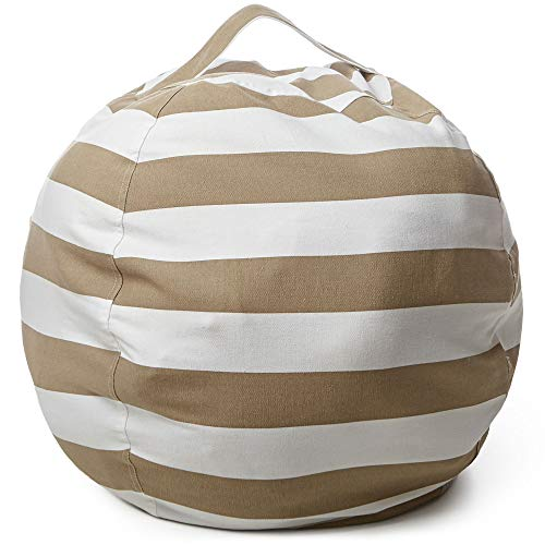 Stuffed Animal Storage Bean Bag Chair by Mummy`s Aide – Kids Storage Organizer Bean Bag & Chair - Fill with Stuffed Toys, Towels, Blankets & Pillows, Use for Cleaning up the Room, Swaddles or Seating by TopDefence