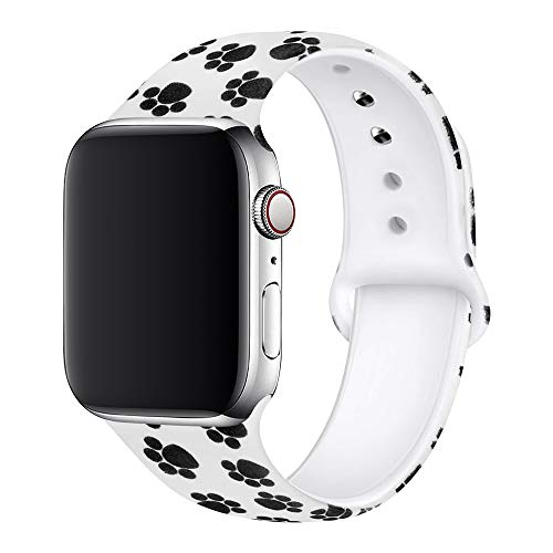 BMBEAR Floral Bands Compatible with Apple Watch Band 38mm 40mm Soft Silicone Fadeless Pattern Printed Replacement Sport Band for iWacth Series 4 3 2 1