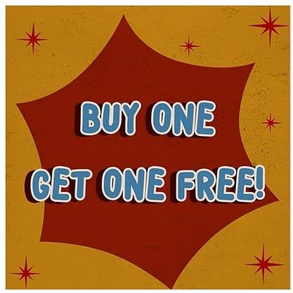 Buy One Get One Free 5-Pack Nostalgia Burst Window Cling 24x24 CGSignLab