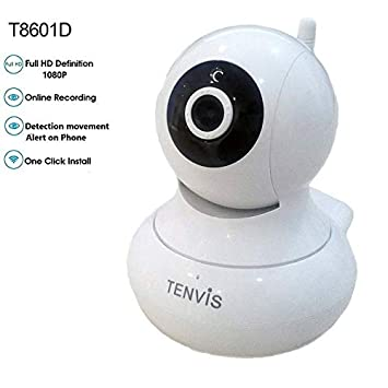 Tenvis T8601D Cámara de vigilancia IP inalámbrica Wifi Full HD interior: Amazon.es: Electrónica