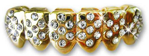 Hip Hop Lower Teeth 14K Gold Plated Mouth Grillz (Pimp) Best Grillz 1415