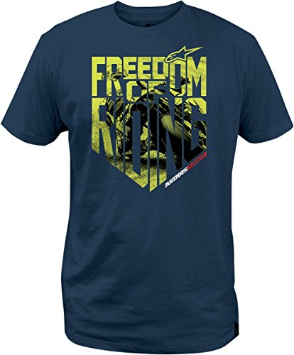 ALPINESTARS Freedom Photo T-shirt Cotton Blue Large