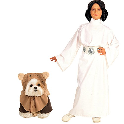 Rubie's Star Wars Princess Leia Child Small Ewok Pet Large Bundle Set