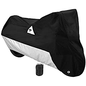Nelson-Rigg Defender 2000 Motorcycle Cover, All-Weather, Waterproof, UV, Air Vents, Heat Shield, Windshield Liner, Compression Bag, Antenna Grommets, XX-Large Fits most Touring motorcycles Harley Davidson Ultra or Honda Goldwing