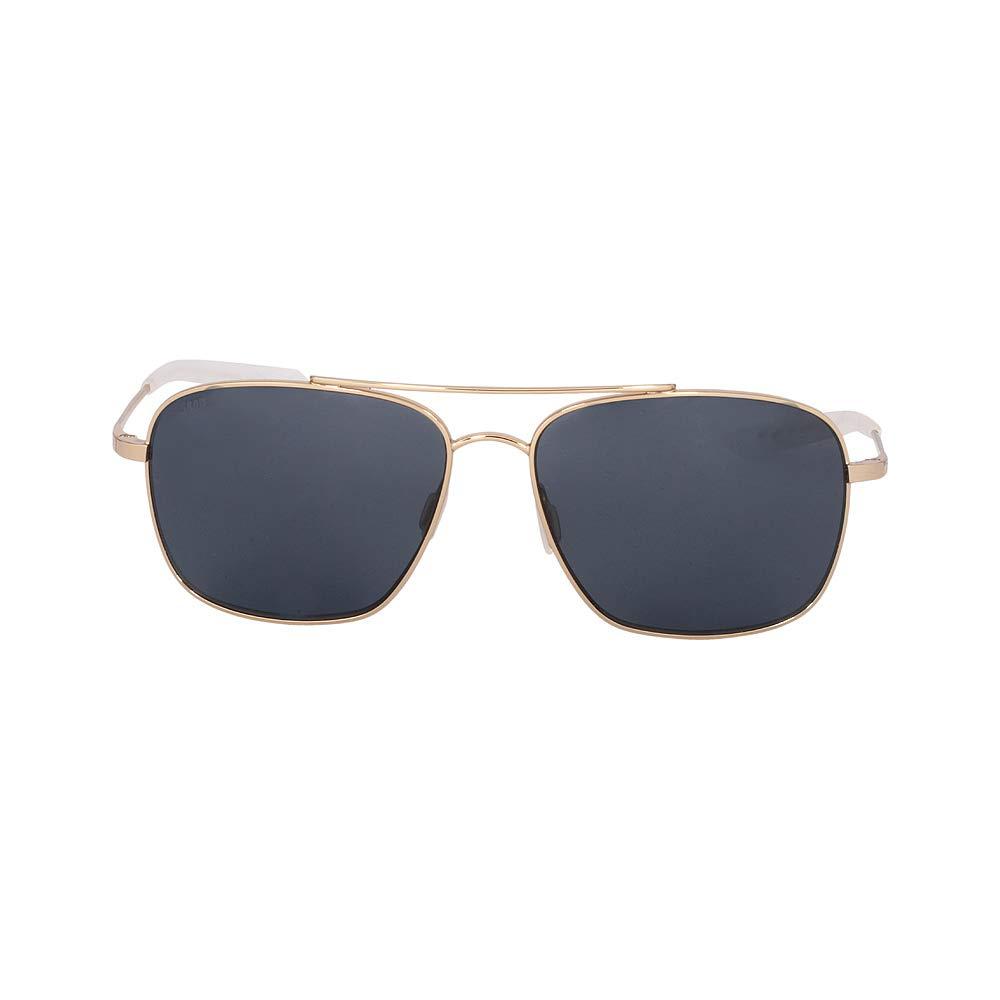 Costa Del Mar Canaveral Sunglasses Shiny Gold/Gray 580 Plastic