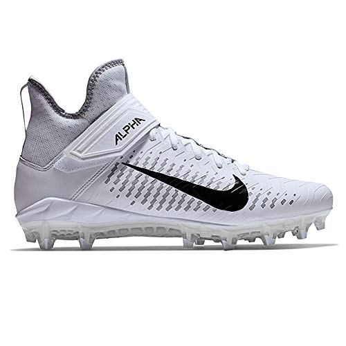 - Nike Men's Alpha Menace Pro 2 Mid Football Cleat White/Black/Wolf Grey Size 10.5 M US