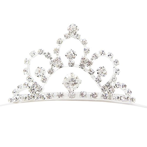 Bride Costume Target - Rosemarie Collections Women's Princess Mini Crown Rhinestone Tiara Hair Comb (Scalloped Scroll)