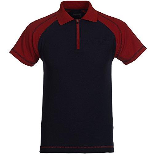 "Mascot Polo-shirt ""Bianco"", 1 Stück, 4XL, marineblau/rot, 50302-260-12-4XL"