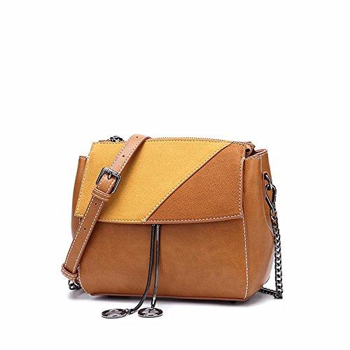 neue diagonale tasche kleinen quadratischen tasche, retro - tassel umhängetasche 19 * 17 * 7cm,brown brown