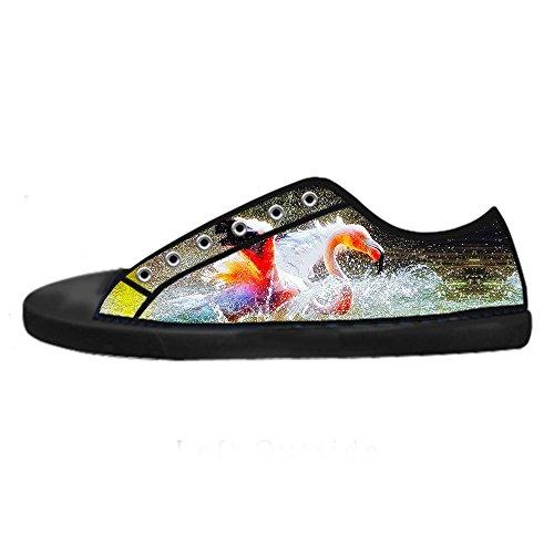 Custom modello Flamingo Mens Canvas shoes I lacci delle scarpe in Alto sopra le scarpe da ginnastica di scarpe scarpe di Tela.