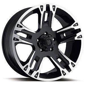 Ultra Wheel 2357884B 235-7884B Ultra 234/235 Maverick Gloss Black RWD - Black Rwd Wheels