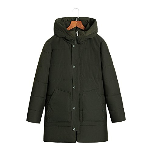 Long Down Padded Green Men's Military Windproof Coat Warm Thick Outwear Hooded Warm Jacket Coat Parka Lsm xZ0PgwqSqY
