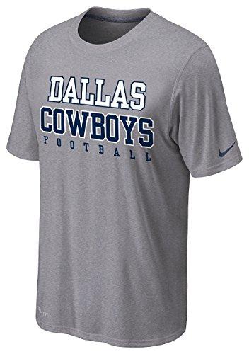 Nike Men's Dallas Cowboys Legend Practice T-Shirt Grey Small